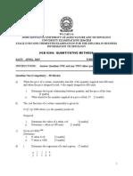 Hcb 0204 Quantitative Methods