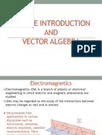 Lecture 1 vector algebra
