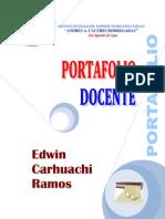 PORTAFOLIO DOCENTE EDWIN CARHUACHI RAMOS