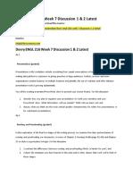 Devry ENGL 216 Week 7 Discussion 1 & 2 Latest
