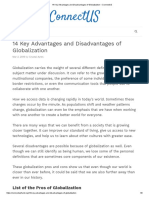 14 Key Advantages and Disadvantages of Globalization – ConnectUS