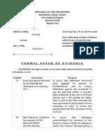 Formal Offer of Evidence_Montereal