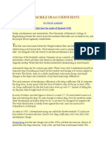 Automobile Drag Coefficients
