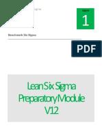 Benchmark Six Sigma Green Belt Preparatory Module V12-1