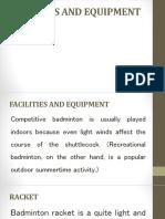 Badminton - Facilities and Equipment1