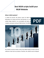 Using Our Best MLM Scripts Build Your MLM Website