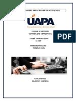 Finanza Publica Trabajo Final
