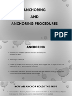 Anchoring and Anchoring Procedures