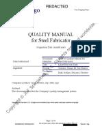 Aisc Quality Manual Demo