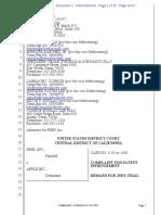 Pinn Inc v. Apple - Patent Infringement