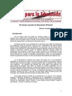 Mateo L 2010 El Fracaso Escolar en Educación Primaria