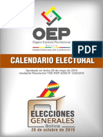Calendario Electoral EG 2019
