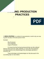 8 Farming Production Practices