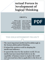 Intellectual Forces in the Development of Sociological Thinking
