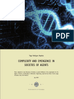 Complexity and Emergence in Societies of Agents