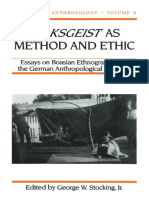 (History of Anthropology) George W. Stocking Jr. - Volksgeist as Method and Ethic_ Essays on Boasian Ethnography and the German Anthropological Tradition-University of Wisconsin Press (1996)