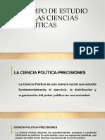 Campo de Estudio de Las Ciencias Políticas