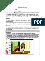 5e lesson plan quadratic exploration individual project