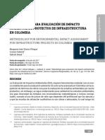 Metodología Para Evaluación de Impacto Ambiental de Proyecto de Infraestructura Vial en Colombia