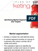 Identifying Market Segements and Targets