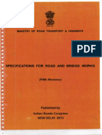 Specifications for Road & Bridge Works