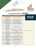Jueces Electorales Oruro EG 2019