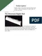 Napkin Folding Lecture
