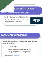 Klasifikasi Dan Konversi Energi