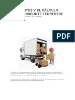 Los Costes y El Cálculo Del Transporte Terrestre