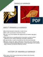 ARANMULA KANNADI ppt