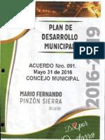 2099 Plan de Desarrollo Municipal 2016 2019