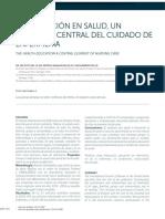 La Educación en Salud Un Elemento Central Del Cuidado de Enfermería. Rev. Med. Clin. Condes 2018 Taller 1