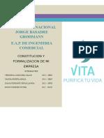 Filtro de Agua Vita Financiamiento y Formalizacion
