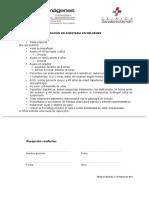 indicaciones  para examen con Anestesia