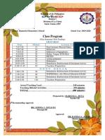 Class Program