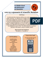 unit 3 exponents and scientific notation newsletter