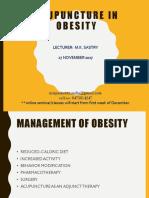 Mk Sastry Acupuncture in Obesity