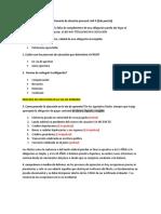Cuestionario de Derecho Procesal Civil II 2do Parcial
