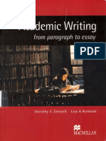 Academic Writing From Paragraph to Essay - Macmillan (2005)