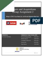 Merger of ING Vysya Bank Ltd. with Kotak Mahindra Bank Ltd.