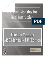 Design of Steel Tension Members (AISC 13th Edition Manual)