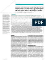 Assessment and management of behavioral and psychological symptoms of dementia