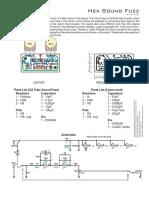 Diagrama Tonepadd FUZZ