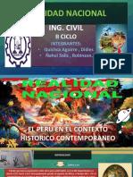 EL PERU EN EL CONTEXTO HISTORICO CONTEMPORANEO