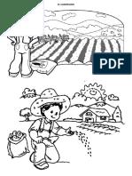 Ficha Xa Colorear - Día Del Campesino
