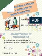 Formulas Para Aplicar Dosis y Dilucion de Medicacion