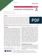 Minimizing catecholamines and optimizing perfusion