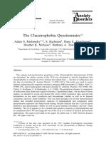The Claustrophobia Questionnaire