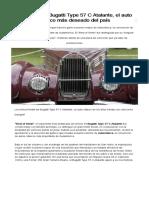 Secretos Del Bugatti Type 57 C Atalante El Auto Clásico Más Deseado Del País - Infobae-1