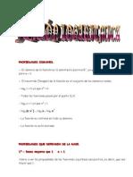 Matematicas Resueltos (Soluciones) Función Logarítmica Nivel I 1º Bachillerato